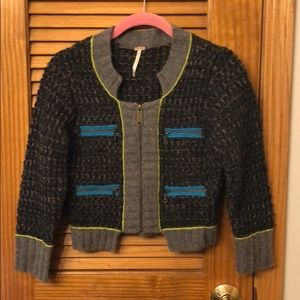 FREE PEOPLE sweater with zippers